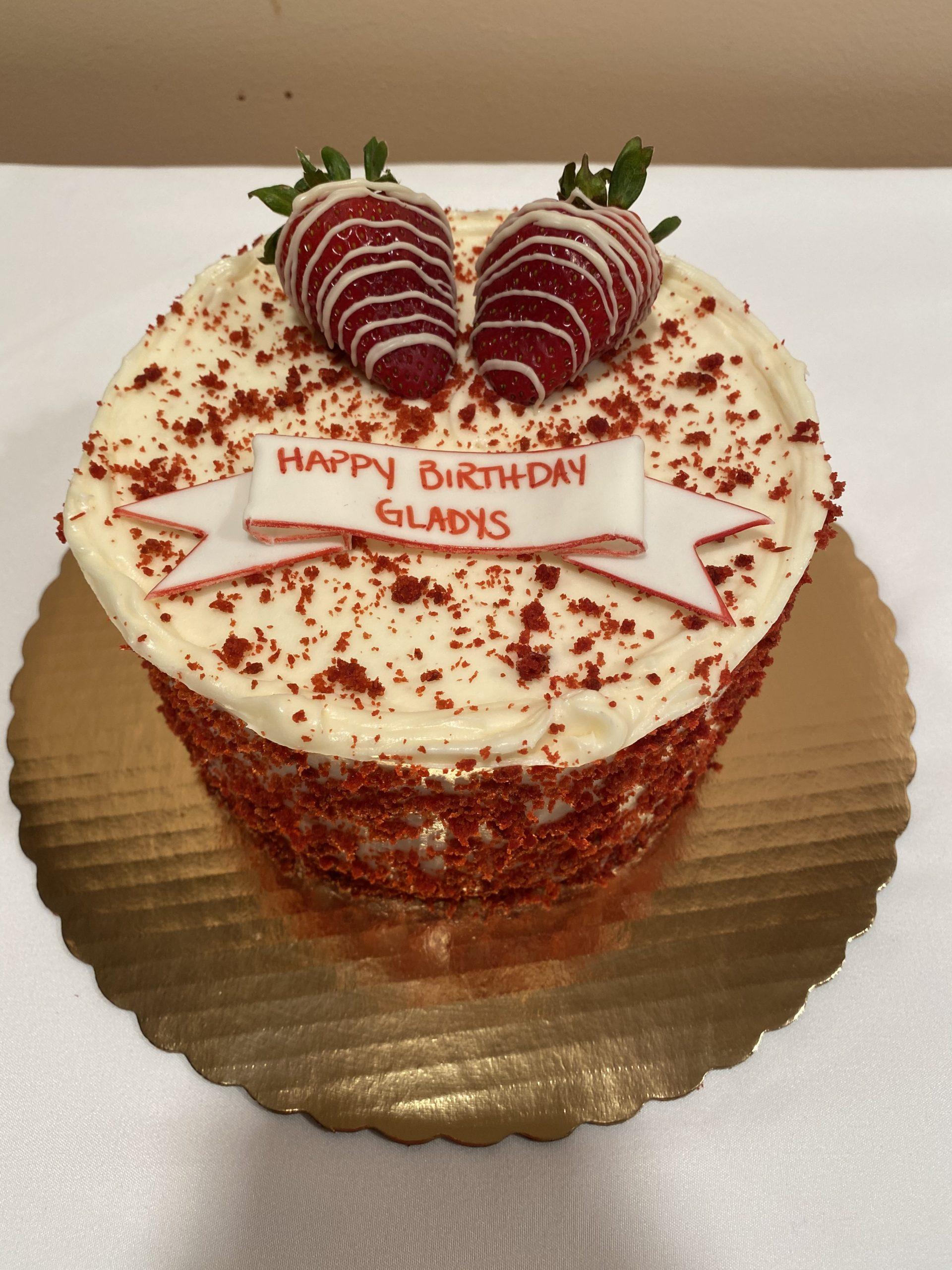 Red Velvet with Strawberries